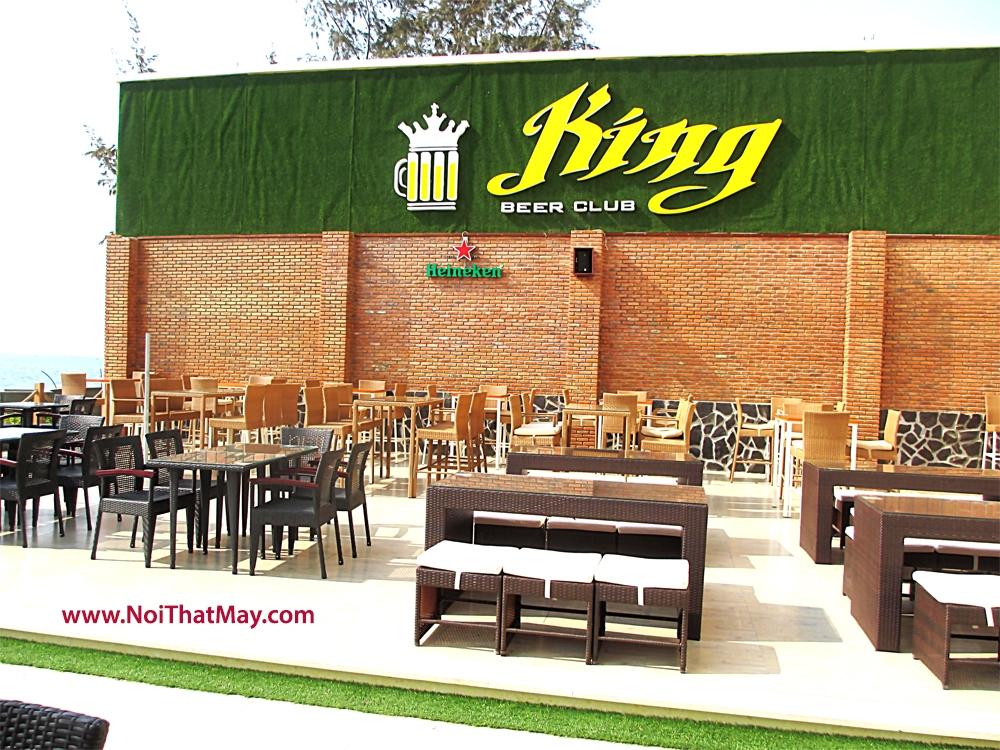 ban ghe cafe may nhua king beer club