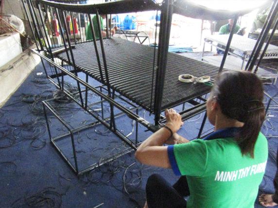 Hướng dẫn từng bước đan ghế hồ bơi ngoài trời đan sợi tròn giả mây