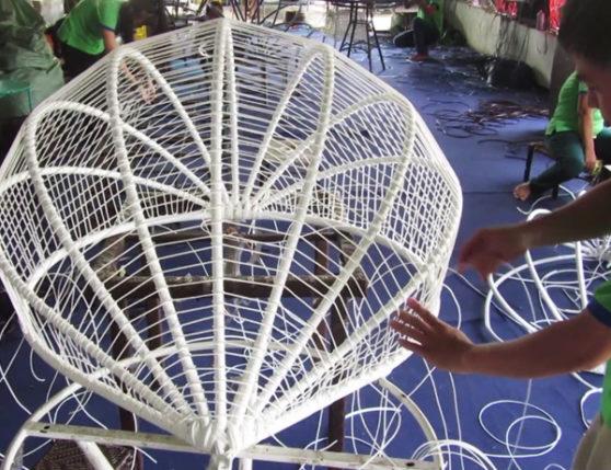 Hướng dẫn cách đan ghế xích đu sân vườn tại xưởng đan mẫu Minh Thy Furniture