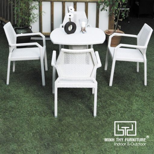 Bàn Ghế Cafe Mây Nhựa MT2A141