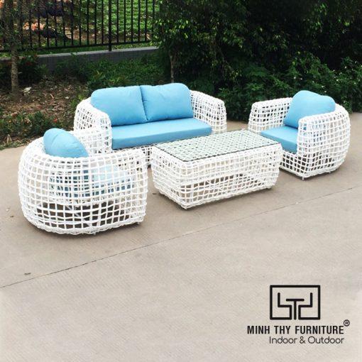 Sofa Mây Nhựa Ngoài Trời MT1A82